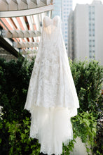 Load image into Gallery viewer, Watters 'Lyric 3012B' size 12 used wedding dress front view on hanger