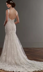Martina Liana 'Low Back' size 6 new wedding dress back view on model