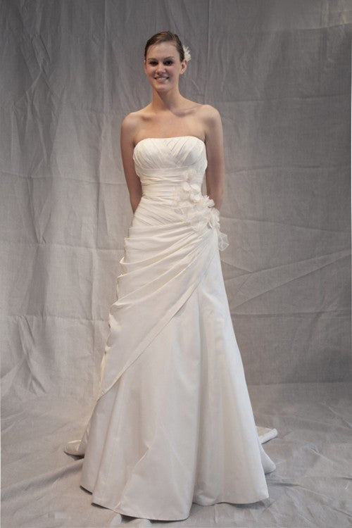 Melissa Sweet Silk Radzimir Cosimma A-Line Wedding Dress - Melissa Sweet - Nearly Newlywed Bridal Boutique - 1