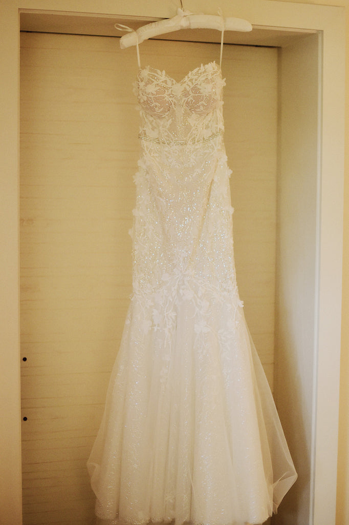 Berta '17-110' size 4 used wedding dress front view on hanger