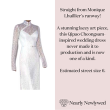 Load image into Gallery viewer, Monique Lhuillier 'Qipao (Cheongsam) Long Sleeve Lace Illusion Wedding Dress'