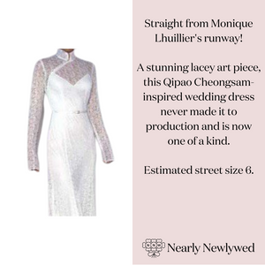 Monique Lhuillier 'Qipao (Cheongsam) Long Sleeve Lace Illusion Wedding Dress'