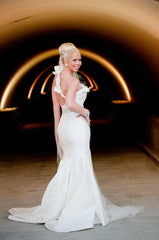 Romona Keveza One Shoulder Fit-N-Flare Gown - Romona Keveza - Nearly Newlywed Bridal Boutique - 2