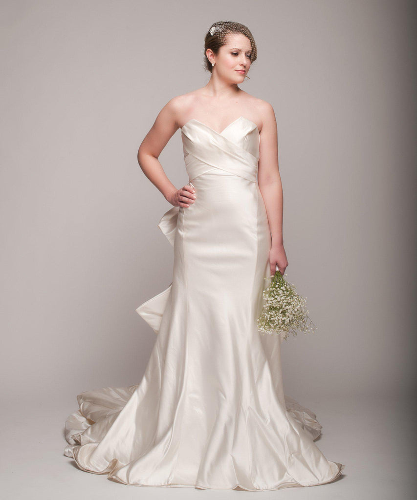 Ulla Maija 'Felicite' Satin Gown - Ulla Maija - Nearly Newlywed Bridal Boutique - 3