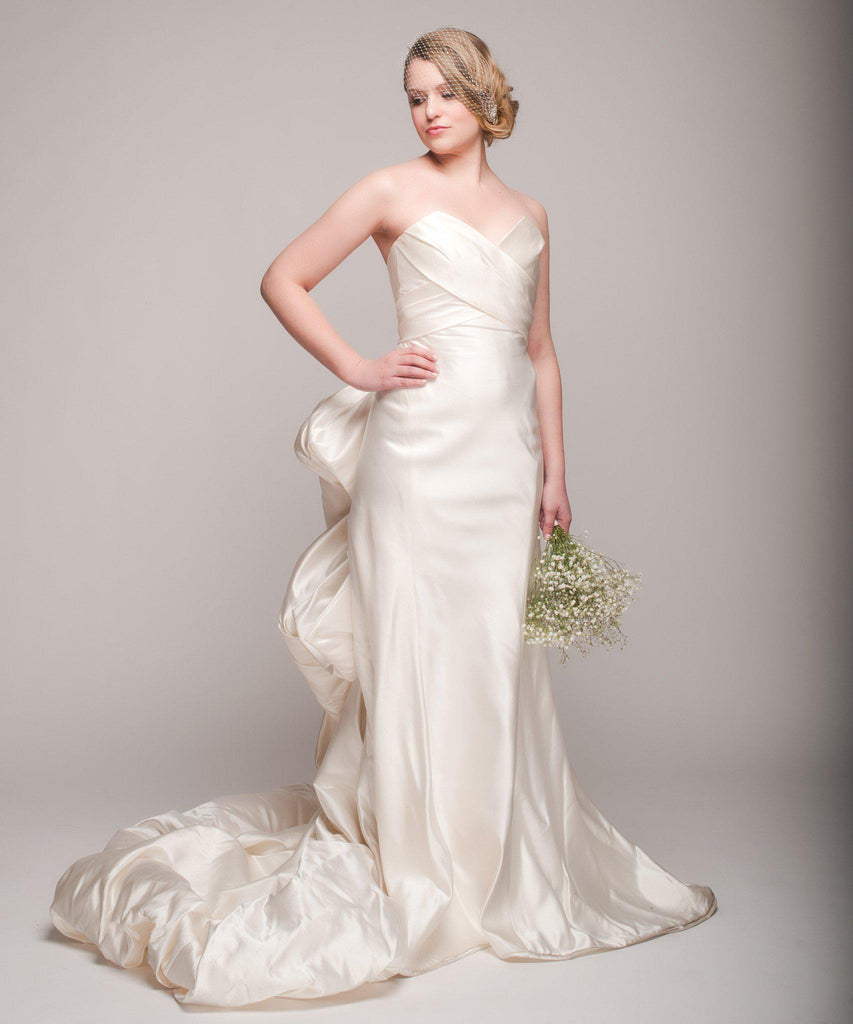 Ulla Maija 'Felicite' Satin Gown - Ulla Maija - Nearly Newlywed Bridal Boutique - 2