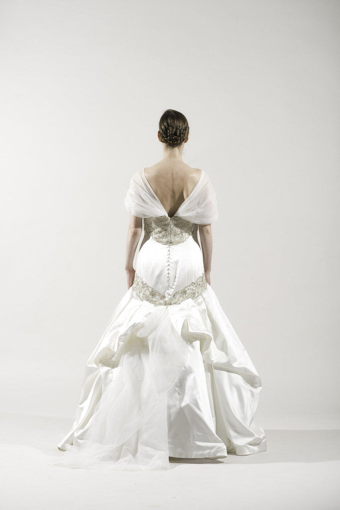 Kenneth Pool 'Alencon' Silk Gown - Kenneth Pool - Nearly Newlywed Bridal Boutique - 2