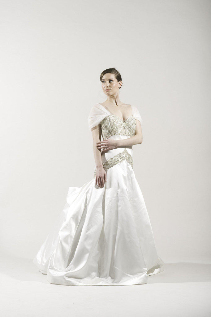 Kenneth Pool 'Alencon' Silk Gown - Kenneth Pool - Nearly Newlywed Bridal Boutique - 1