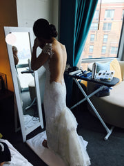 Olvi/Olga Yermoloff '2277' size 4 used wedding dress back view on bride