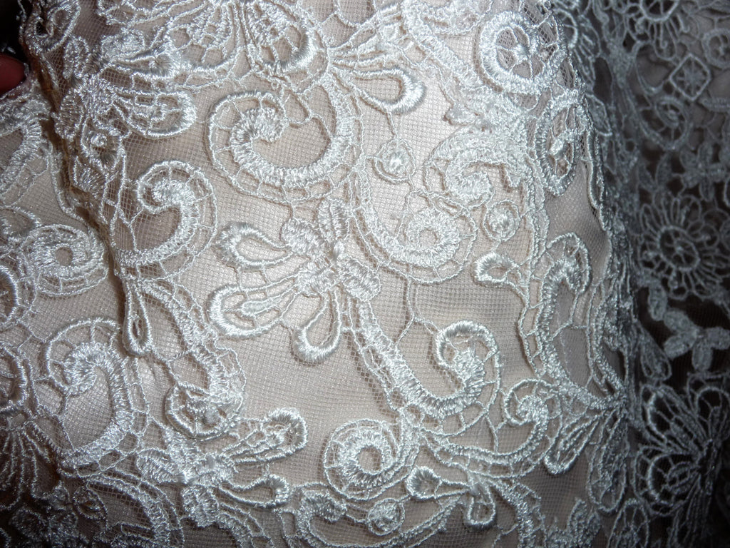 Allure Bridals '2750' size 10 used wedding dress close up of fabric