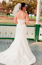 Load image into Gallery viewer, Priscilla of Boston Cascading Pleated Wedding Dress - Priscilla of Boston - Nearly Newlywed Bridal Boutique - 4