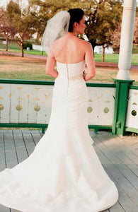 Priscilla of Boston Cascading Pleated Wedding Dress - Priscilla of Boston - Nearly Newlywed Bridal Boutique - 4