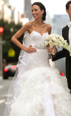 Lazaro Style LZ3258 Ivory Trumpet Gown - Lazaro - Nearly Newlywed Bridal Boutique - 1