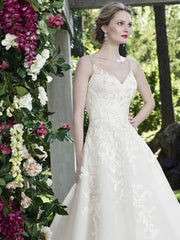 Casablanca 'Juniper' size 16 used wedding dress front view close up on model