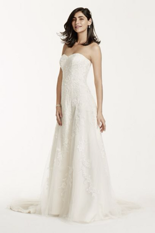David's Bridal 'Sweetheart A Line'