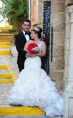 Custom Made Fit & Flare Gown - Custom made - Nearly Newlywed Bridal Boutique - 2