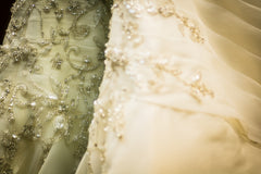 More Lee 'Ivory' size 16 used wedding dress view of detail