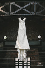 Austin Scarlett 'Eden' size 4 used wedding dress front view on hanger