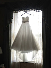 Romana Keveza 'Legends 264' size 2 used wedding dress front view on hanger