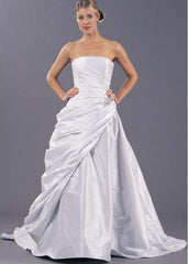 Romona Keveza Grace A-Line Wedding Dress - Romona Keveza - Nearly Newlywed Bridal Boutique - 1