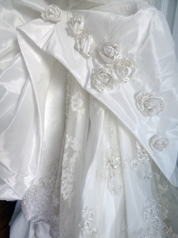 Maggie Sottero 'Sabelle' size 14 used wedding dress close up of detail
