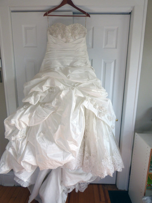 Maggie Sottero 'Sabelle' size 14 used wedding dress front view on hanger