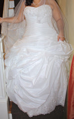 Maggie Sottero 'Sabelle' size 14 used wedding dress front view on bride