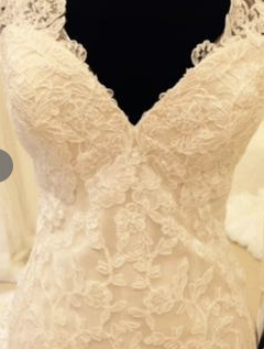 Martina Liana '675SSZZ'  size 6 new wedding dress front view close up