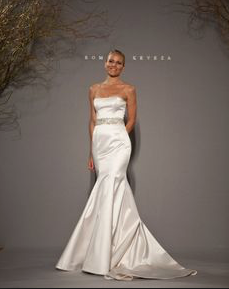 Romona Keveza Silk Mermaid Wedding Dress - Romona Keveza - Nearly Newlywed Bridal Boutique - 6