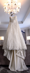 Demetrios '1473' size 12 used wedding dress front view on hanger