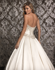 Allure '9003' size 18 new wedding dress back view on model