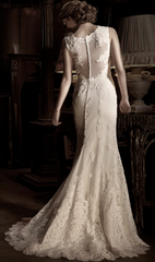 Anne Barge 'Victoire' size 6 new wedding dress back view on model