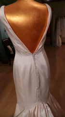 Marisa '805' size 2 used wedding dress back view on mannequin