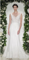 Anne Barge 'Hampton' size 0 new wedding dress front view on model