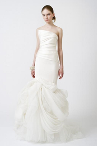 Vera Wang 'Fiona' Mermaid Asymmetrical Wedding Gown - Vera Wang - Nearly Newlywed Bridal Boutique - 1