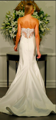 Romona Keveza 'Legends' size 8 used wedding dress back view on model