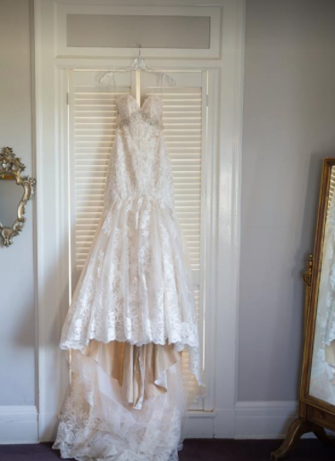 Essence of Australia 'DU2042' size 2 used wedding dress front view on hanger