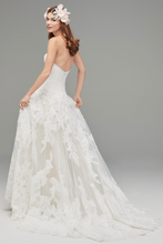 Load image into Gallery viewer, Watters 'Lyric 3012B' size 12 used wedding dress back view on model