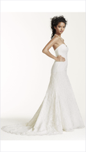 Load image into Gallery viewer, Oleg Cassini 'Strapless Trumpet' - Oleg Cassini - Nearly Newlywed Bridal Boutique - 3