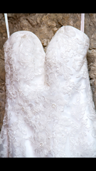 Private Collection 'Fit and Flare' size 4 used wedding dress front view