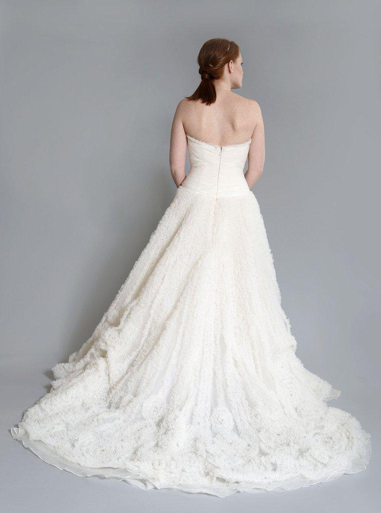 Rivini 'Kyra' Ruched Tulle Dress - Rivini - Nearly Newlywed Bridal Boutique - 4