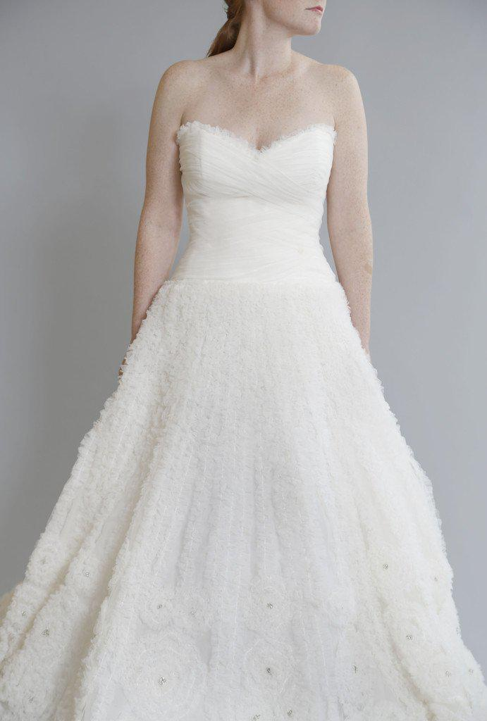 Rivini 'Kyra' Ruched Tulle Dress - Rivini - Nearly Newlywed Bridal Boutique - 3