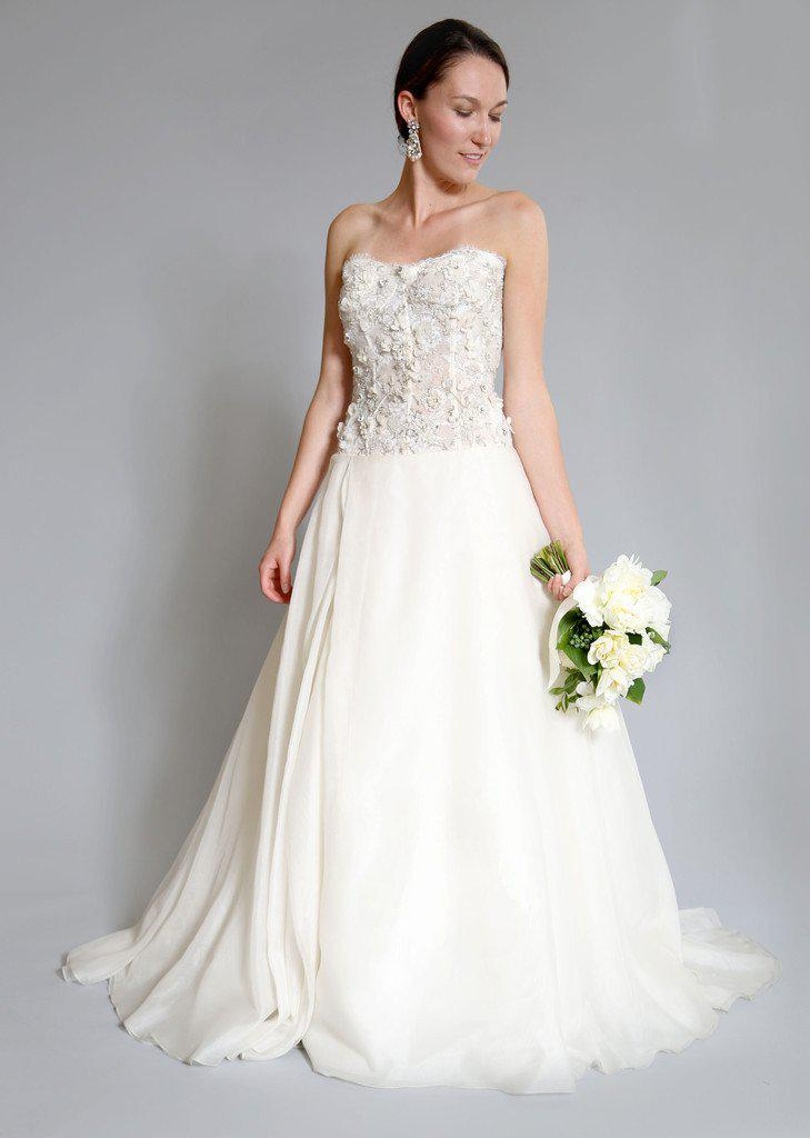 Monique Lhuillier 'Cypress' Corset Gown - Monique Lhuillier - Nearly Newlywed Bridal Boutique - 1