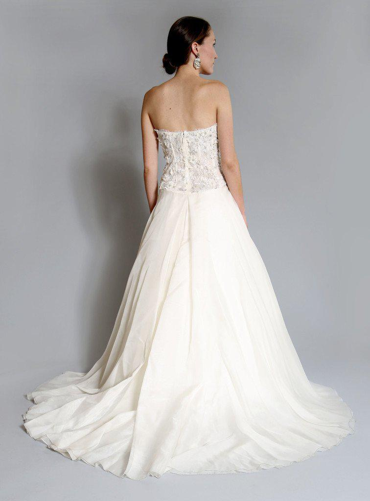 Monique Lhuillier 'Cypress' Corset Gown - Monique Lhuillier - Nearly Newlywed Bridal Boutique - 2
