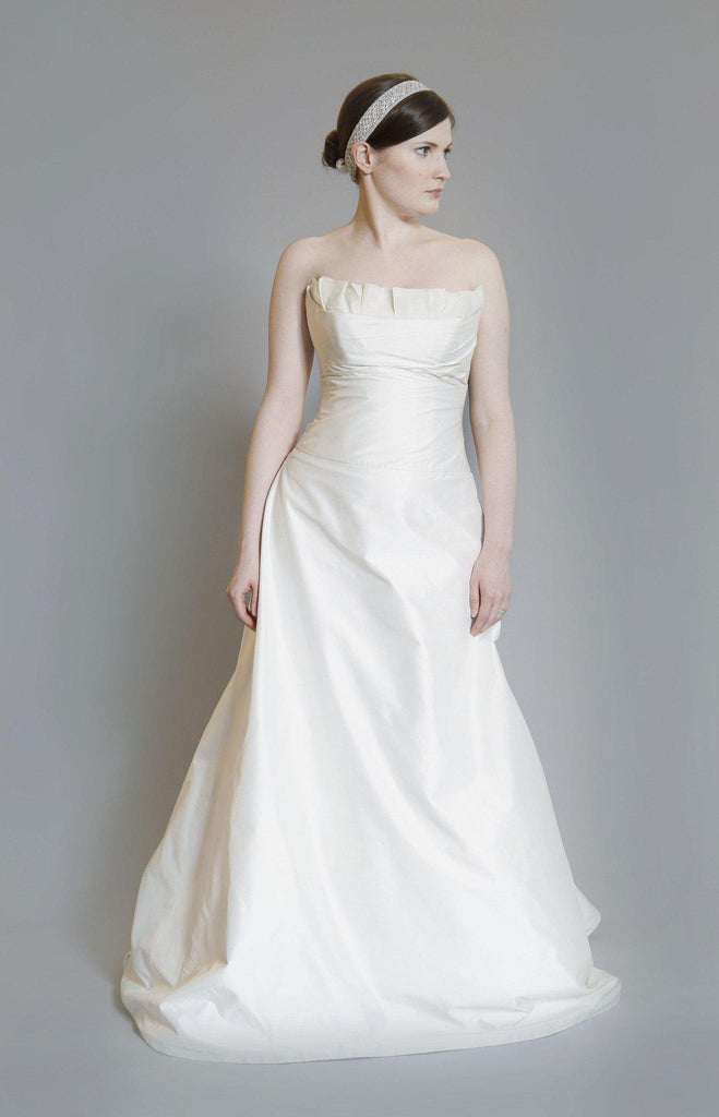 Legends by Romona Keveza Strapless Silk Dress for Kleinfeld - Romona Keveza - Nearly Newlywed Bridal Boutique - 1