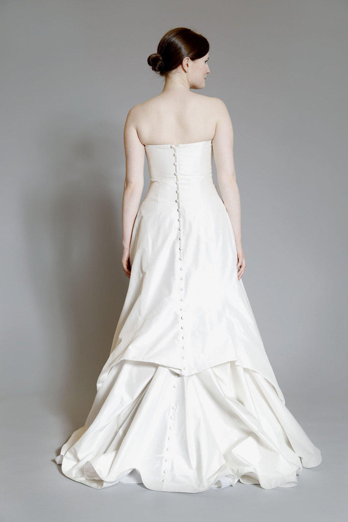 Legends by Romona Keveza Strapless Silk Dress for Kleinfeld - Romona Keveza - Nearly Newlywed Bridal Boutique - 2