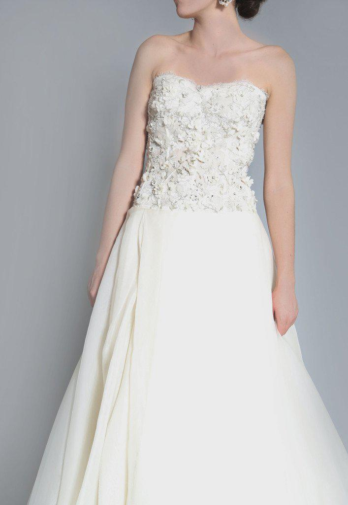 Monique Lhuillier 'Cypress' Corset Gown - Monique Lhuillier - Nearly Newlywed Bridal Boutique - 3