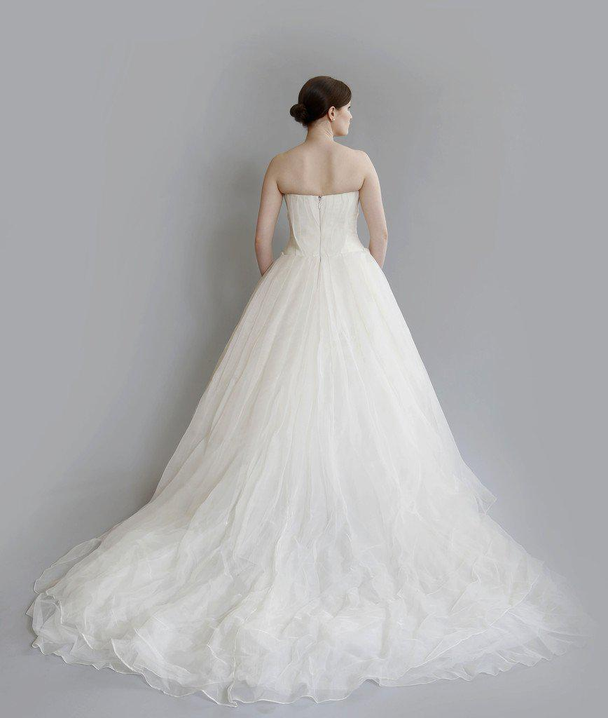 Vera Wang 'Freida' Painted Organza Dress - Vera Wang - Nearly Newlywed Bridal Boutique - 4