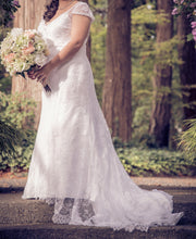 Load image into Gallery viewer, Alfred Angelo 'Lace V Neck' (8501) - alfred angelo - Nearly Newlywed Bridal Boutique - 6
