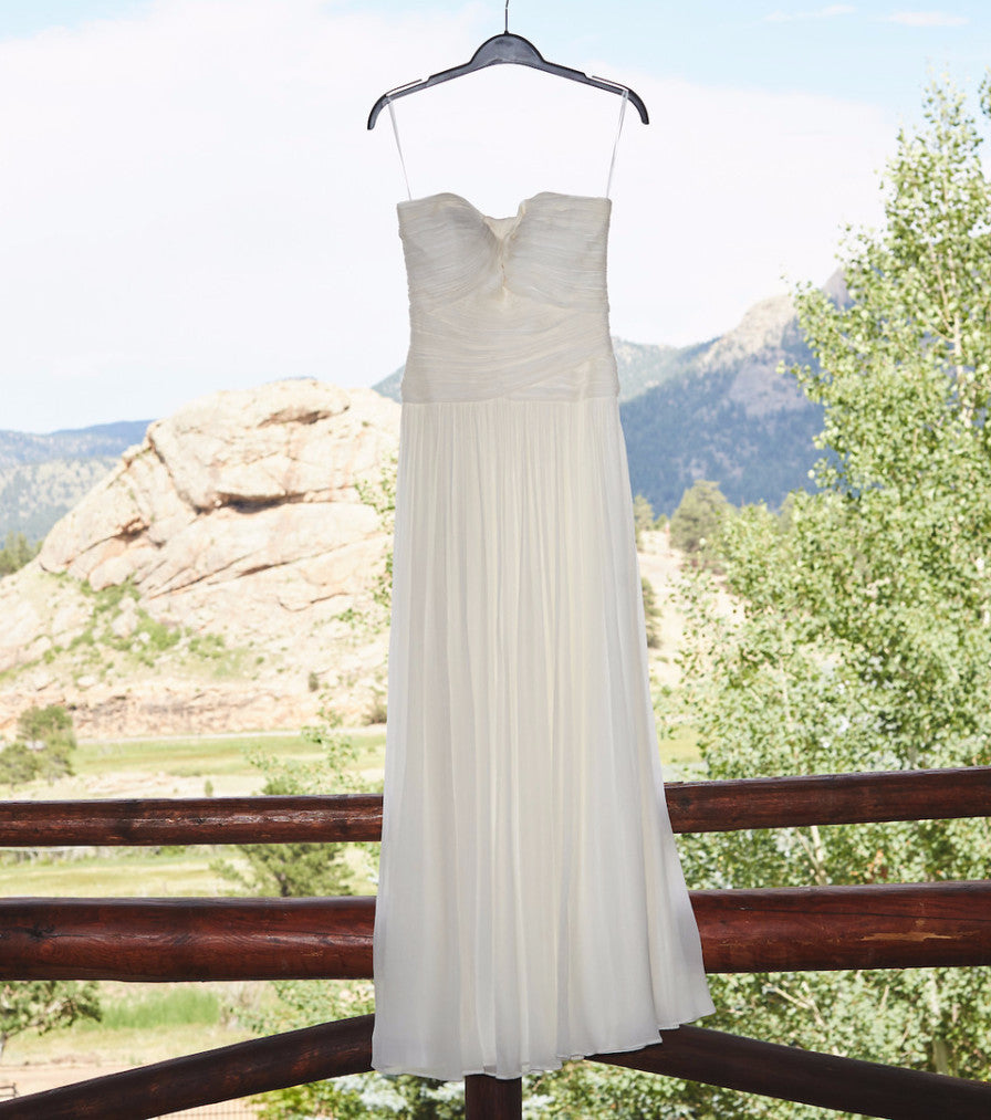 J Crew \'Ava\' size 0 used wedding dress - Nearly Newlywed