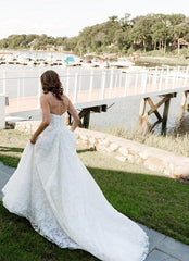 Anne Barge 'Amberley' size 4 used wedding dress back view on bride